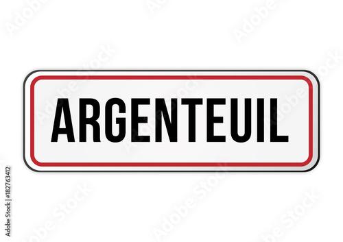 Photo Panneau signalisation entrée ville Argenteuil
