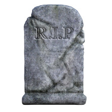 Tombstone Isolated On White. 3d Render
