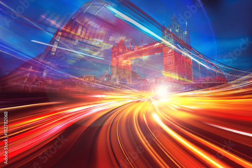 obraz PCV Abstract motion speed background of London City