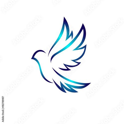Fotografia Art dove bird flying logo