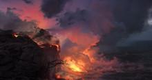 Beautiful Volcanic Landscape W...