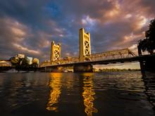 Sacramento Tower Bridge Sunset 1