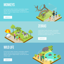 Public Zoo Isometric 3D Poster...
