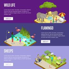Public Zoo Isometric 3D Poster...