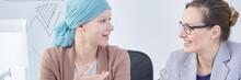 Cancer Woman Enjoying Conversation
