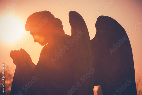 guardian angel - vintage style photo Fototapet