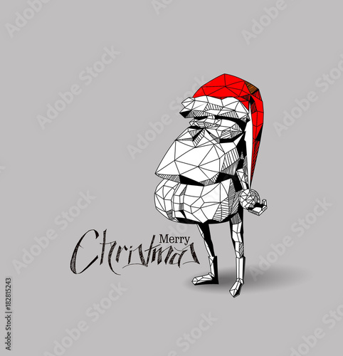 56e93dcd9c1d1 3D wireframe render funny cartoon character of Santa Claus