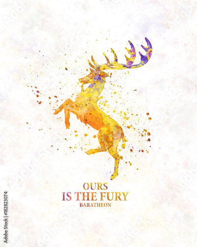 Photo  Baratheon in watercolor art