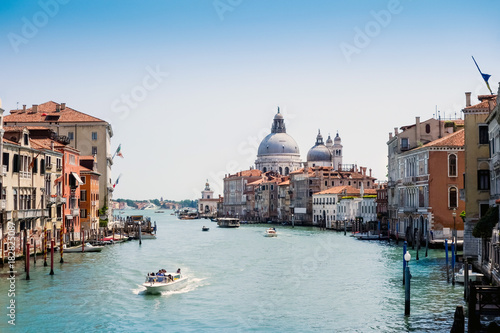 Fototapety, obrazy: Beautiful view of water street and old buildings in Venice, ITALY