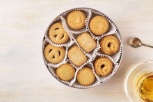 Danish Butter Cookies With Tea...