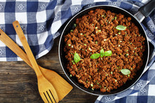 Bolognese Sauce In Skillet, To...