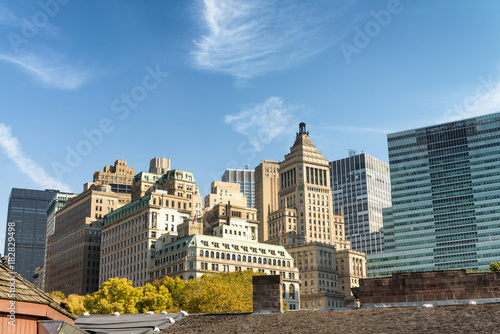 Keuken foto achterwand Buffel Old and modern skyline of New York City on a sunny autumn day