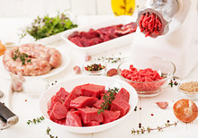 Chopped Raw Meat. The Process ...
