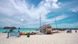 Cuba. The coast of the Caribbean Sea. Cayo Largo. Beach