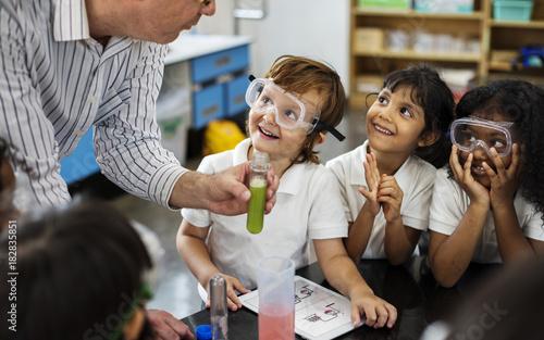 Fotografie, Obraz  Happy kids at elementary school