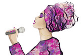 Afrykańska piosenkarka jazzowa - 182836845