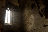 lightning that enters through the window of the monastery of Vallbona de les Monges, Lleida province,Spain - 182843412