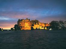 Edinburgh Castle Esplanade At Dusk. SCotland, UK