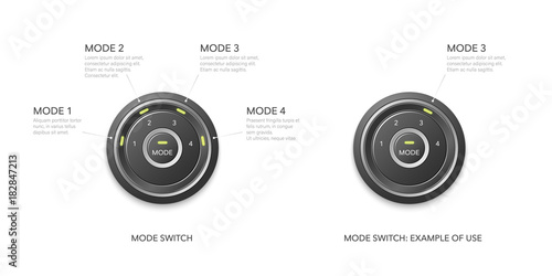 Fényképezés  Mode switch with option selection