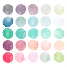 Set Of Watercolor Shapes. Wate...
