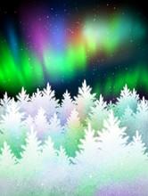 Winter Landscape Background Wi...