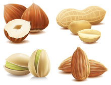 Collection Of Various Nuts On ...