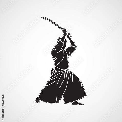 Obraz na płótnie Iaido vector logo icon illustration
