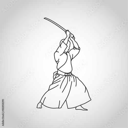Fotomural Iaido vector logo icon illustration