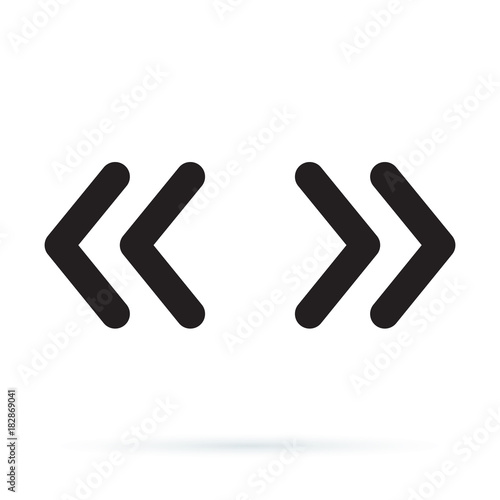 Photo Vector double rounded chevron arrows