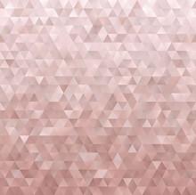 Rose Gold Geometric Low Poly V...