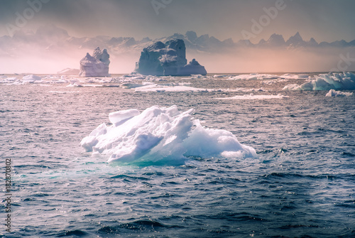 Foto op Aluminium Arctica Greenland, arctic, north pole : amazing iceberg on the sea, we can still see this before complete climate change
