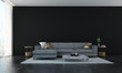 Leinwanddruck Bild - The interior design of luxury lounge and livin room and black wall wall background