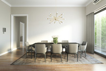 Modern Chic Luxury Dining Room