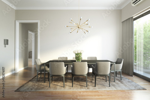 Fotomural  Modern chic luxury dining room