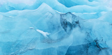 Texture Of Glacier Ice In Clos...