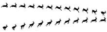Deer Running And  Jumping Animation Sprite Sheets, Reindeer, Deer, Christmas, Silhouette