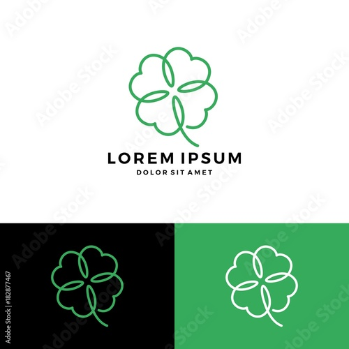 Foto clover leaf four logo vector download