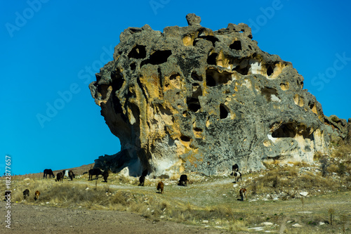 Photo sur Aluminium Ile view to the cave from Byzantine period in Phrygian Valley