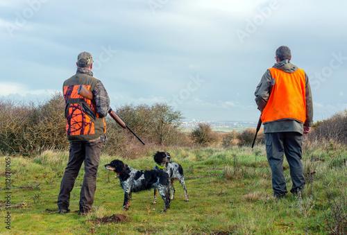 Foto op Plexiglas Jacht chasse en plaine