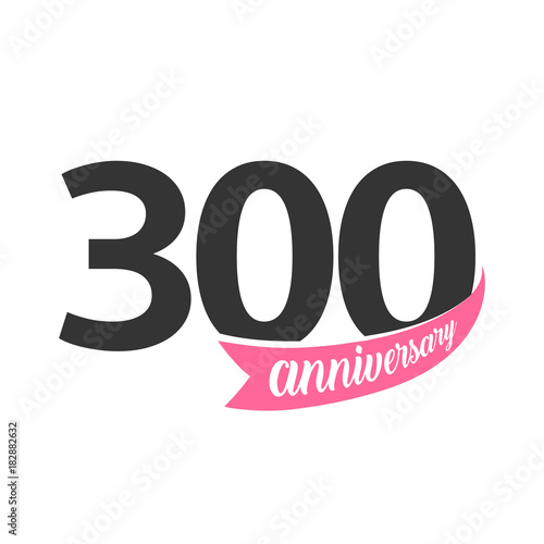 Valokuva  Three hundred Anniversary vector logo
