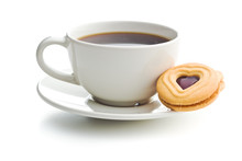Sweet Jelly Cookies And Coffee...