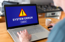 System Error Concept On A Laptop