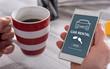 Car rental concept on a smartphone