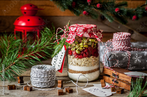 Foto Christmas Cookie Mix in a Jar
