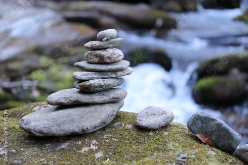 Cairn in the Appalachia Canvas Print
