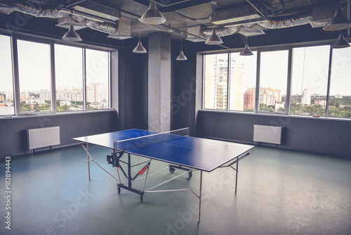 Poster Airport Ping pong table