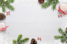 Flat Christmas Background Scen...