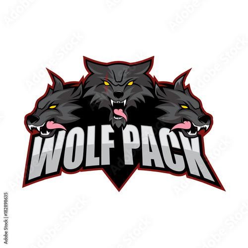 Obraz na plátně Wolfpack Vector Logo
