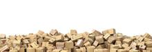 Logistic Concept. Big Pile Of Cardboard Boxes. 3d Illustration