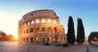 Panoramic image of Colosseum (Coliseum) in Rome, Italy